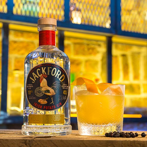 Jackford Irish Potato Gin Damn the Weather Portrait